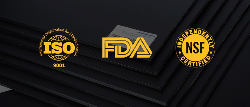 Polymersan FDA ISO 9001 NSF logos approved